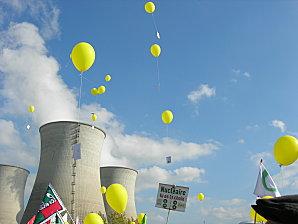 Lacher de ballon centrale nucléaire Bugey 15 octobre 2011